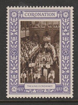 1937 Uk King George Vi Coronation Stamp – The King Is Crowned - Mint