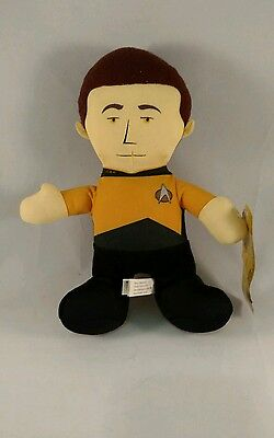 """Star Trek Toy Factory Commander Data Plush 14"""" Doll with Tags"""