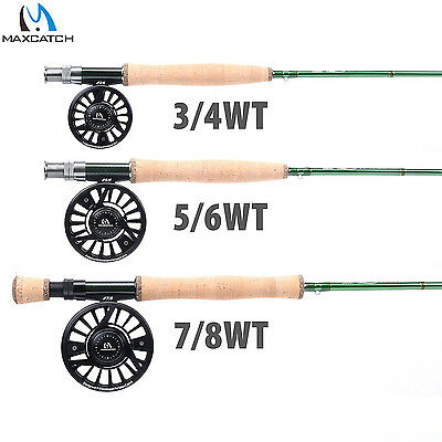 3/4/5/6/7/8WT Fly Fishing Rod Outfit 4SEC IM10 Rod with Case & Fly Fishing Reel