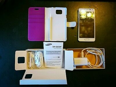 Samsung Galaxy Alpha SM-G850F, charger, boxed,  wallet cover, Vodafone, unlocked