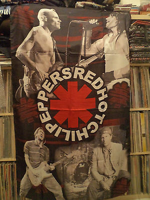 RED HOT CHILI PEPPERS  Rare Unused TEXTILE POSTER FLAG nirvana pearl jam t shirt