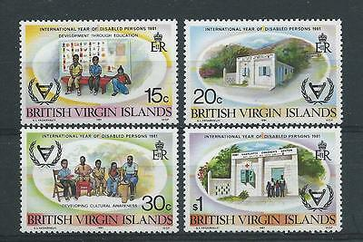 Virgin Islands SG470-473 1981 Year of the Disabled Unhinged Mint