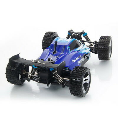 Upgrade Wltoys A959 2.4G 1/18 Vortex 4WD Electric RC Car Off-Road Buggy RTR Blue