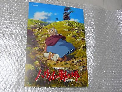 """Ghibli Pamphlet """"Howl's Moving Castle"""" Japan import Free shipping"""