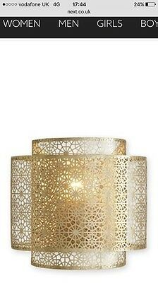 Next Zhara Brushed Soft Brass Centre Light Shade