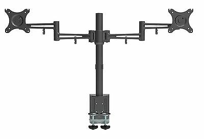 Bramley Power LCD LED Dual Desk Mount Arm Monitor Stand Bracket,Very Strong