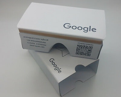 2016 New Google Cardboard V2.1 Whilte Color with Head Strap, VR, Latest version