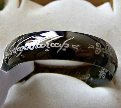 Size:8 ~  Lord_Of_The_Rings ~~ S/steel  ~ Ring -- (Great_Gift)