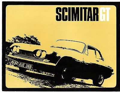 Reliant Scimitar 2.5 GT Coupe 1964-65 UK Market Foldout Sales Brochure