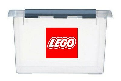 2x large LEGO Logo's Vinyl Stickers Decals for storage toy box container boxes