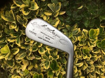 WALTER HAGEN No.6 MODEL HICKORY SHAFTED 3 IRON IN NICE PLAYABLE CONDITION.