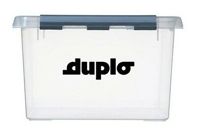 2x large DUPLO Logo Vinyl Stickers Decals storage for toy box container boxes