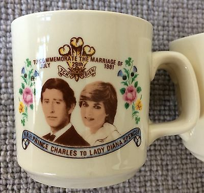11x Mugs - Commemorate Marriage of Prince Charles Lady Diana - 1981