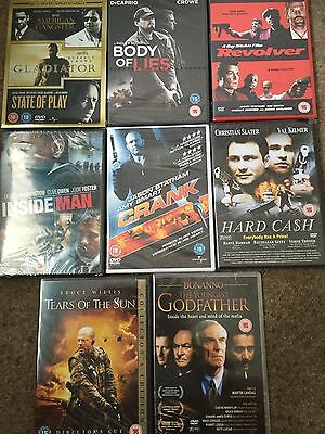 10 Action Films On 8 Dvds, New In Box