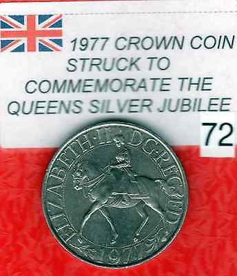 1977 Crown Coin Struck to Commemorate the QUEENS SILVER JUBILEE (Item: 72 Red)