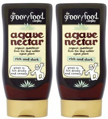 The Groovy Food Company Agave Nectar - Rich - 250ml (Pack of 2)