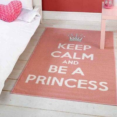 Matrix Themes Be A Princess Pink/White Rug 100cm X 160cm
