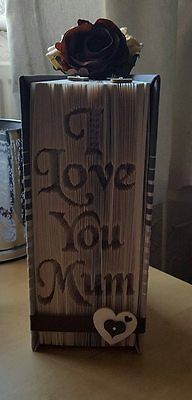 I Love You Mum  Folded Book Art Folding PATTERN ONLY #1201