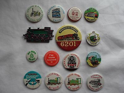 Assorted Badges Railway Train Steam Tram Traction Flying Scotsman BR