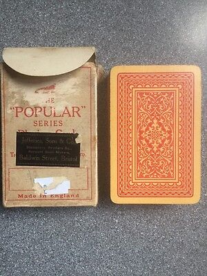 """vintage DE LA RUE playing cards - The """"POPULAR"""" series - early pattern"""