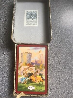 vintage THE JOUST playing cards by DE LA RUE 1950s