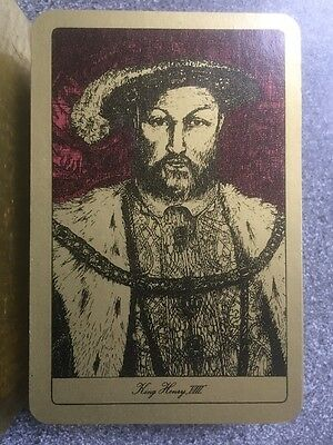 vintage KING HENRY VIII playing cards by Waddingtons - complete