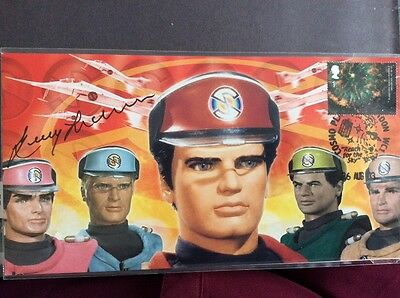 Captain Scarlet First Day Cover Signed by Gerry Anderson