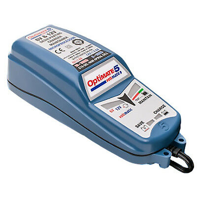 TecMate OptiMate 5 Voltmatic Classic Motorcycle Battery Optimiser Charger (SAE)