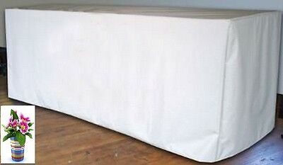 6' ft. Fitted Polyester White Table Cover Trade show Booth DJ Tablecloth Wedding