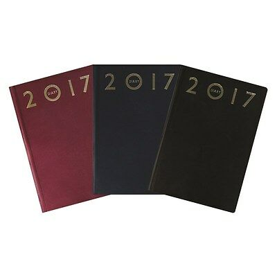 A4 / A5 2017 Diary Day Per Page / Week To View Hardback Calendar Desk Office