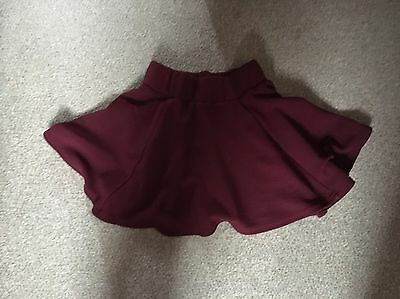 New Look Generation 915  Maroon Skirt Size Age 9 Worn In Ex.con