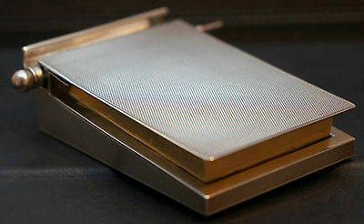 Rare Solid Sterling Silver1928 Asprey London Writing Pad Holder & Pencil Gold