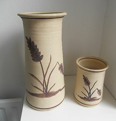 2 Vintage studio pottery vases signed PB/BP?