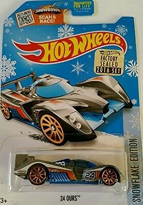 2016 Hot Wheels Snowflake Edtion - 24 Ours - Includes Factory Sealed Set Sticker