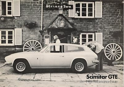 Reliant Scimitar GTE 1973-75 UK Market Leaflet Sales Brochure