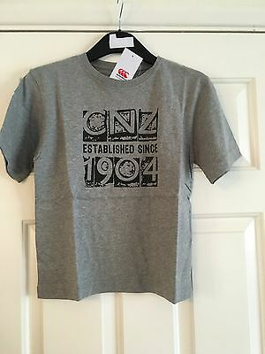 New Canterbury Grey Cnz 1904 Graphic Sports T-Shirt Age 6 & 12 Years