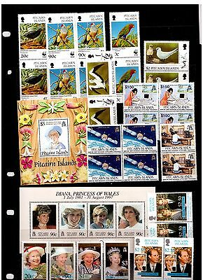Pitcairn Islands Stamps All Mint Including Min Sheets, Blocks Pairs And Sets