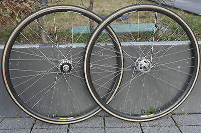 CAMPAGNOLO C-Record Pista Track Sheriff Star High Flange Bahn Laufradsatz Wheels