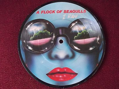 """A FLOCK OF SEAGULLS I Ran / Pick Me Up 7"""" PICTURE DISC 1982 NEW WAVE"""