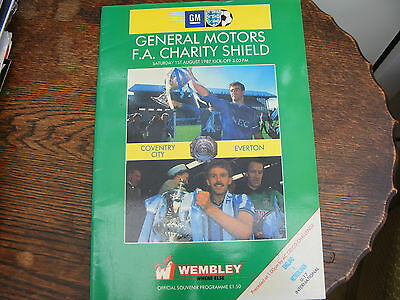 Coventry City V Everton  Fa Charity Shield August 1987 Wembley