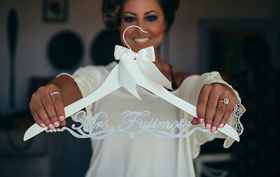 Personalized Wedding Hanger Bridal Hanger with Bride or Bridesmaid Name EL019