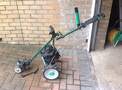 HILLBILLY  COMPACT Electric Golf Trolley and charger fitted with Winter Wheels.