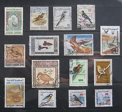 TUNISIA Bird Stamp selection. Used