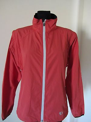 PEARL IZUMI Women Cycling Bike LIGHT Jacket Coat Top LARGE *removable sleeves*