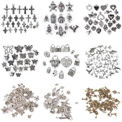 Antique Silver Gold Charms/Pendants Vintage jewelry Making Findings DIY Crafts