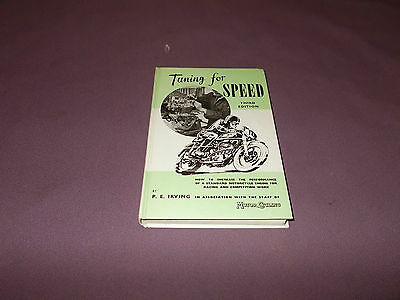 Tuning for Speed Phil Irving 1956 Norton BSA Triumph Motorcycle Book Manual