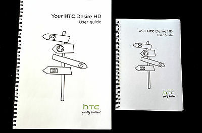 ~PRINTED~ HTC Desire HD user guide instruction manual  COLOUR A4 or A5