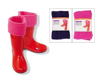 WOMENS GIRLS WELLIE WELLY SOCKS BOOT LINERS WINTER SNOW LADIES KIDS uk SIZE 9-6