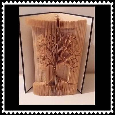2 Tone Tree. Folded Book Art Folding PATTERN ONLY #1216