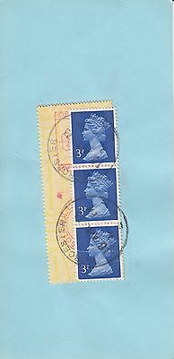 N 2101  Machins on 1974 Pouch mail and meter...